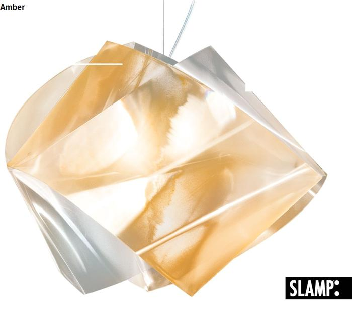 slamp the leading light gem04sos0000lco gemmy prisma amber color suspension. Black Bedroom Furniture Sets. Home Design Ideas