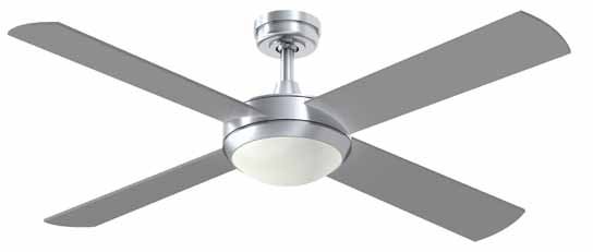 Intercept2 ceiling fan with light from hunter pacific davoluce hunter pacific intercept2 brushed aluminium ceiling fan with light hunter pacific intercept fans ceiling mozeypictures Images