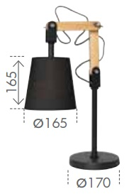 18304 06a Pix Table Lamp From Blink Lighting Antique Desk