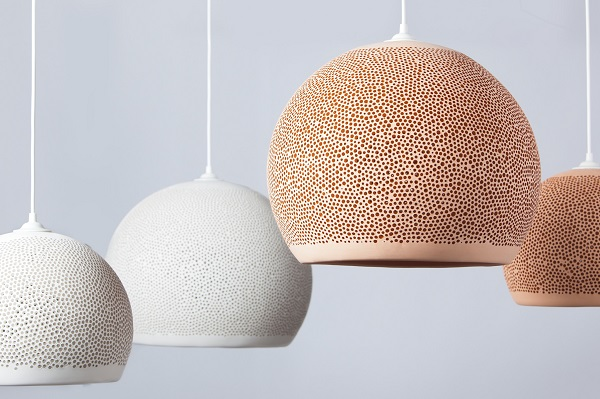 Spongeup Terracota Hand Made Pendant Lights By Pott Made In Spain