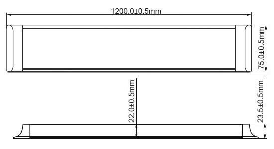 Cla Razor2 Razor4 4 Foot Low Profile Led Slimline