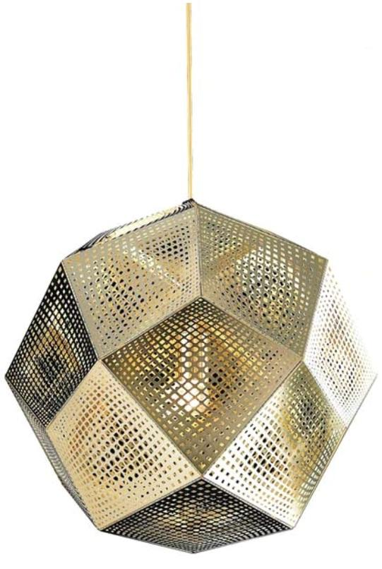 tom dixon etch shade replica pendant light gold extra large. Black Bedroom Furniture Sets. Home Design Ideas