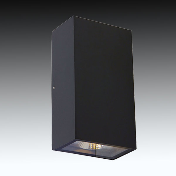 UOW046COB-BLK-CW - UGE Lighting - STELLAR Black Square Up & Down 2x5W LED Wall Light