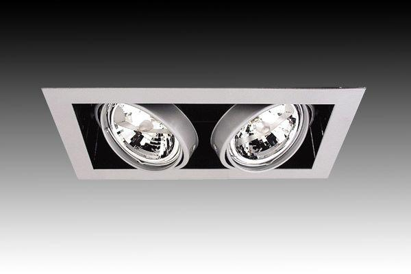 G3172 Led Dual Gang Square Ar111 Led Downlight Gentech Lighting Australia Wide Delivery