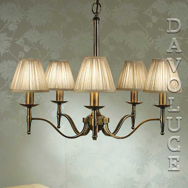 Stanford 5 Light Chandelier Brass By, Chandelier Table Lamps Australia